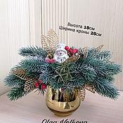 """Композиции ручной работы. Ярмарка Мастеров - ручная работа Композиция новогодняя""""Снеговик"""". Handmade."""