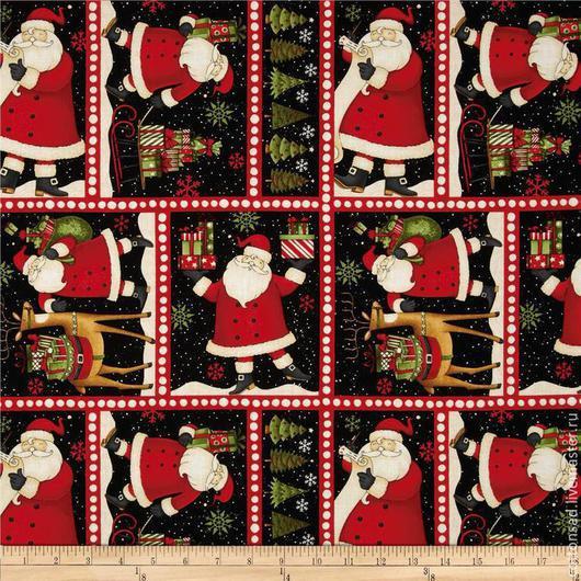 """Шитье ручной работы. Ярмарка Мастеров - ручная работа. Купить Ткань для пэчворка. (2 вида) """"Подарки от Дед Мороза"""". Хлопок США.. Handmade."""