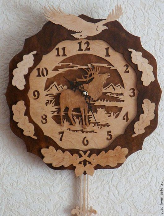 "Часы для дома ручной работы. Ярмарка Мастеров - ручная работа. Купить Часы с маятником ""Хозяин леса"". Handmade. Часы"