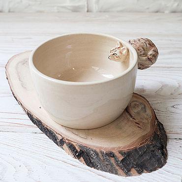 """Посуда ручной работы. Ярмарка Мастеров - ручная работа Миска """"Кузя"""". Handmade."""