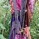 Платья ручной работы. Ярмарка Мастеров - ручная работа. Купить бохо-платье С ВОРОТОМ. Handmade. Разноцветный, юбка длинная