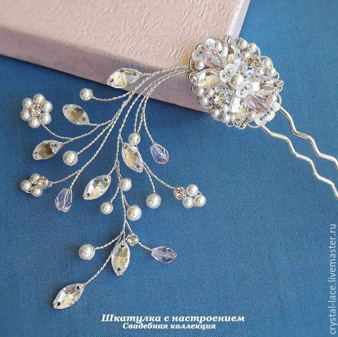 """""""Zephyr"""" шпилька для прически невесты, Украшения, Москва, Фото №1"""