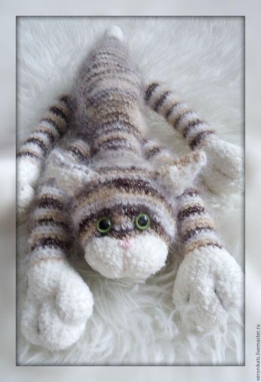 Игрушки животные, ручной работы. Ярмарка Мастеров - ручная работа. Купить Котик. Handmade. Комбинированный, кот крючком, мягкая игрушка