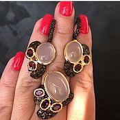 Украшения handmade. Livemaster - original item Earrings with rose quartz. Handmade.