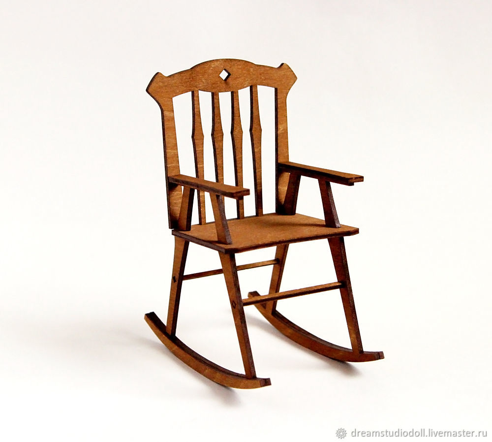 Rocking chair for dolls.