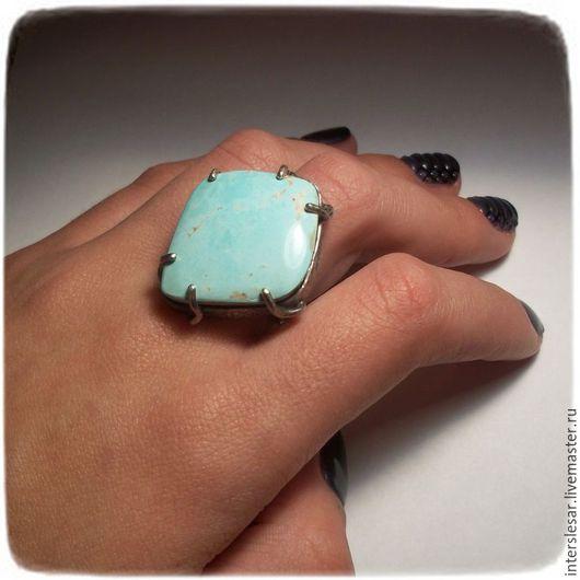 Кольца ручной работы. Ярмарка Мастеров - ручная работа. Купить Бирюза кольцо. Handmade. Бирюзовый, самоцветы