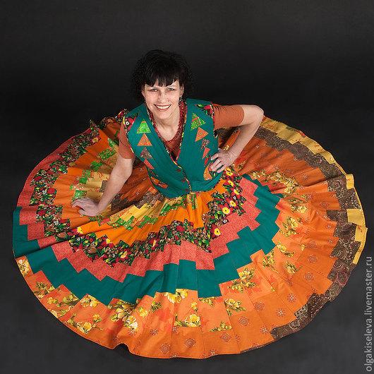 Юбки ручной работы. Ярмарка Мастеров - ручная работа. Купить юбка СОЛНЦЕ. Handmade. Лоскутное шитье, юбка, солнце
