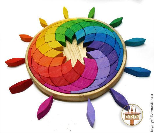 Развивающие игрушки ручной работы. Ярмарка Мастеров - ручная работа. Купить Мозаика Радуга. Handmade. Мозаика, геометрический узор, кедр