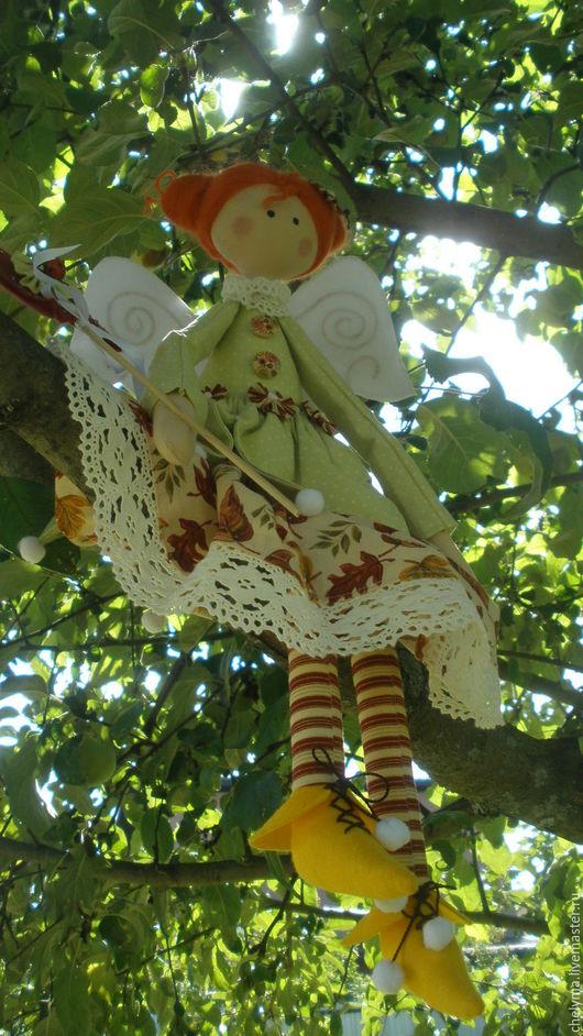 Сказочные персонажи ручной работы. Ярмарка Мастеров - ручная работа. Купить текстильная кукла в стиле тильда. Фея сада. Handmade.