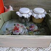 Для дома и интерьера ручной работы. Ярмарка Мастеров - ручная работа Небольшой поднос с розами. Handmade.