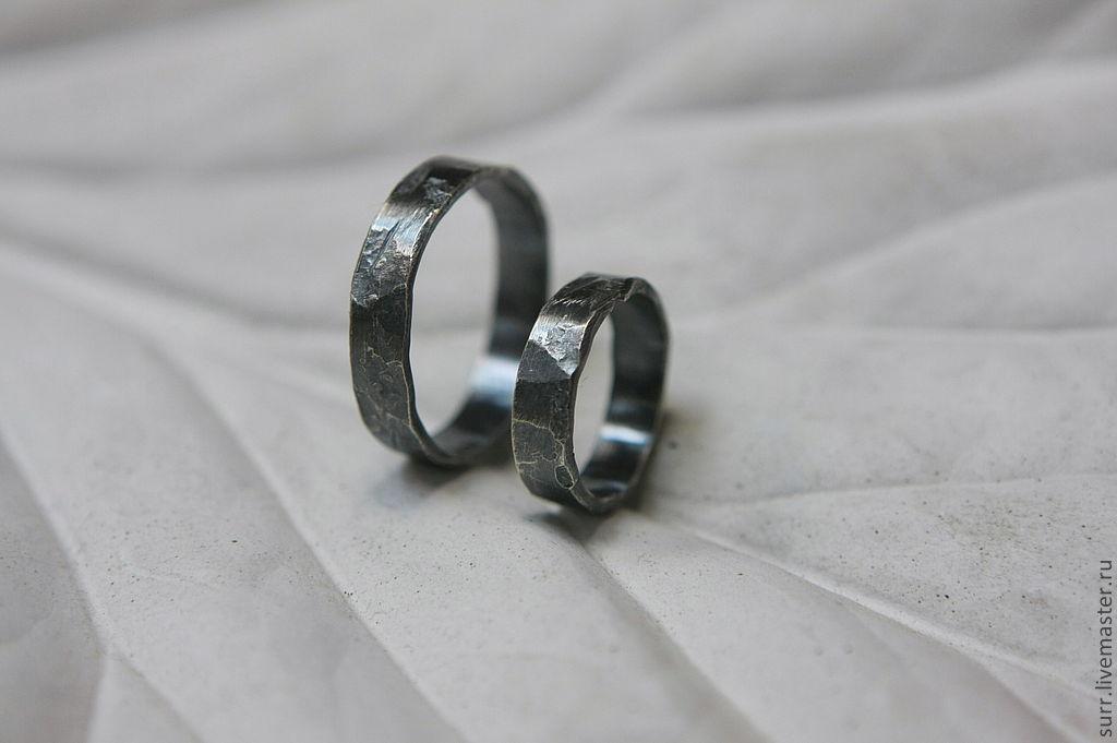 95fe8420567a Свадебные украшения ручной работы. Ярмарка Мастеров - ручная работа. Купить  Кованые обручальные кольца
