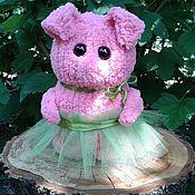 Мягкие игрушки ручной работы. Ярмарка Мастеров - ручная работа Свинка-балерина. Handmade.