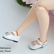 handmade. Livemaster - original item Shoes with bows for Blythe,Barbie white. Handmade.