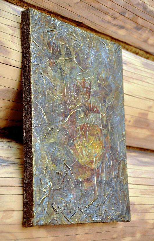 """Картины цветов ручной работы. Ярмарка Мастеров - ручная работа. Купить Панно интерьерное """"Утро туманное"""". Handmade. Панно, цветы"""