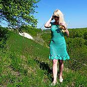 Одежда ручной работы. Ярмарка Мастеров - ручная работа Платье Зеленый омут твоих глаз. Handmade.