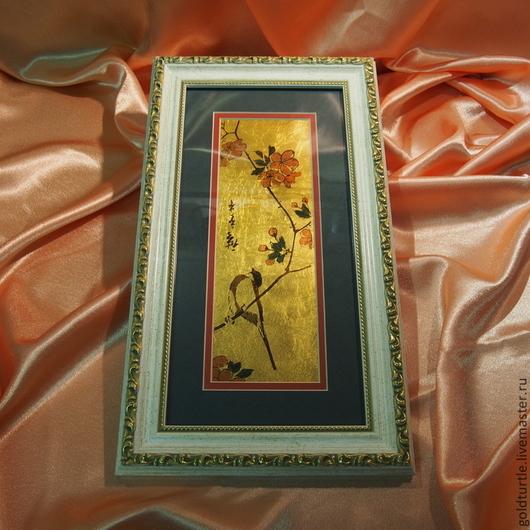 """Этно ручной работы. Ярмарка Мастеров - ручная работа. Купить Японские мотивы """"Сакура"""". Handmade. Подарок, сувенир, птица, багет"""
