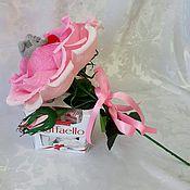 """Цветы и флористика ручной работы. Ярмарка Мастеров - ручная работа """"Мишутка в розе"""". Handmade."""