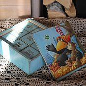 """Куклы и игрушки ручной работы. Ярмарка Мастеров - ручная работа Детские кубики декупаж  """"Прошлое, настоящее, будущее"""". Handmade."""
