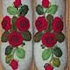 Варежки, митенки, перчатки ручной работы. Заказать Варежки с вышивкой Красные розы рококо. Ludmila Batulina (milenaleoneart). Ярмарка Мастеров.