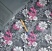 Материалы для творчества ручной работы. Ярмарка Мастеров - ручная работа Плащевка отрез 1,5м Цветущая весна + компаньон т.серый 0,5м. Handmade.