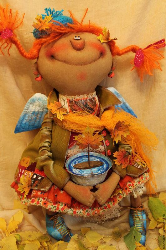 Коллекционные куклы ручной работы. Ярмарка Мастеров - ручная работа. Купить Шалунья-Осень!.... Handmade. Разноцветный, осень, краски акриловые