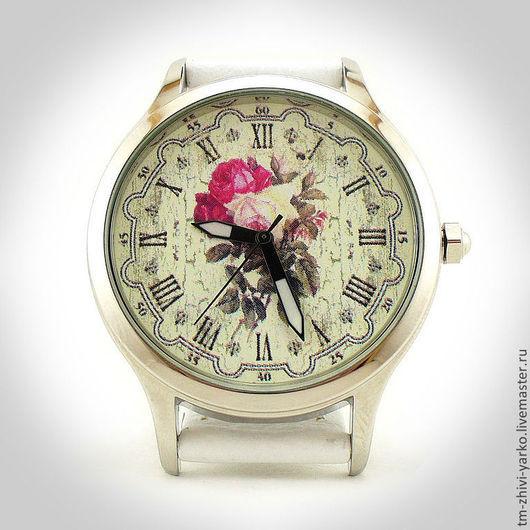 """Оригинальные дизайнерские наручные часы ручной работы """"Розы для любимой"""""""