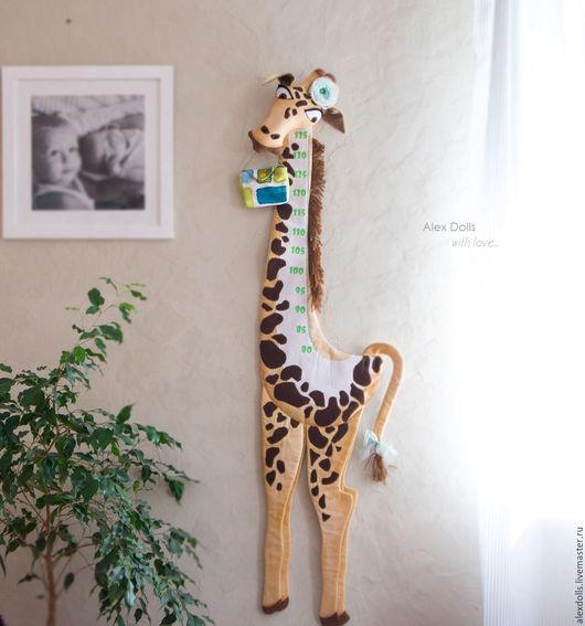 Детская ручной работы. Ярмарка Мастеров - ручная работа. Купить Жираф. текстильный ростомер.. Handmade. Жираф, Ростомер, сафари, акрил