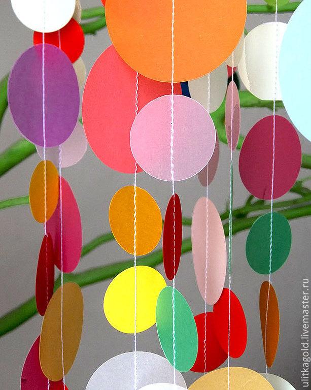 Как сделать украшения из цветной бумаги на новый год