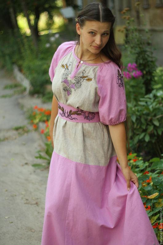 """Платья ручной работы. Ярмарка Мастеров - ручная работа. Купить Распрекрасное платье """"Урожай"""". Handmade. Разноцветный, платье в пол"""