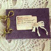 Свадебный салон ручной работы. Ярмарка Мастеров - ручная работа Сберкнижка молодым. Handmade.