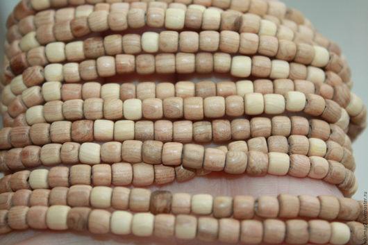 Для украшений ручной работы. Ярмарка Мастеров - ручная работа. Купить Можжевеловые деревянные бусины,  цилиндры 5 мм. Handmade.