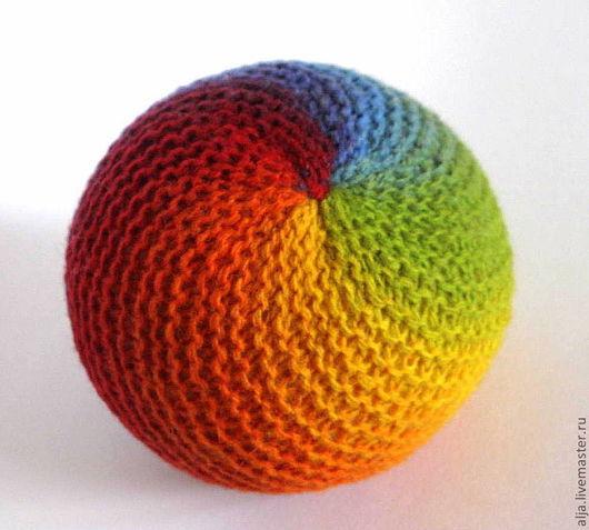 Вальдорфская игрушка ручной работы. Ярмарка Мастеров - ручная работа. Купить Мячик радужный. Handmade. Мячик, подарки детям