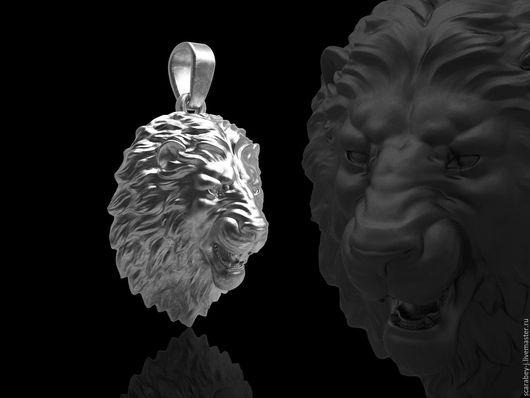 """Кулоны, подвески ручной работы. Ярмарка Мастеров - ручная работа. Купить Кулон из серебра """"Лев"""". Handmade. Серебряный, подвеска лев"""