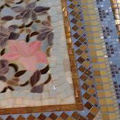 """Для дома и интерьера ручной работы. Ярмарка Мастеров - ручная работа Стол обеденный """"Сад орхидей"""", мозаика. Handmade."""