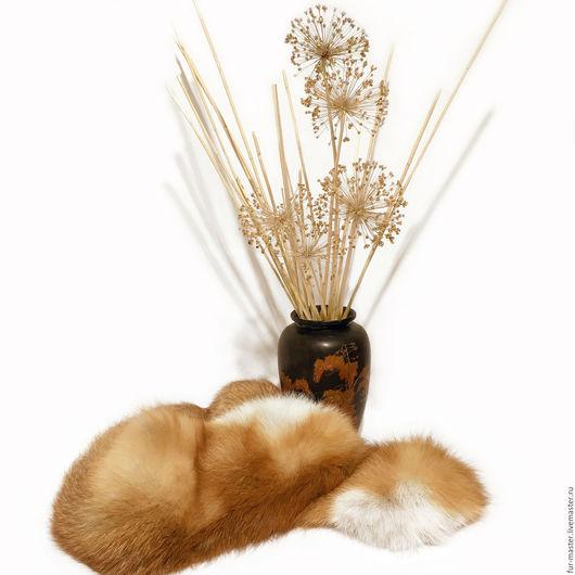Шали, палантины ручной работы. Ярмарка Мастеров - ручная работа. Купить Горжетка из красно-рыжей лисы «Классика». Handmade.