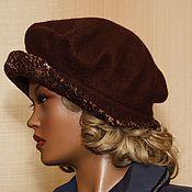 """Аксессуары ручной работы. Ярмарка Мастеров - ручная работа шляпка-берет   """"Алла""""  валяная коричневая. Handmade."""