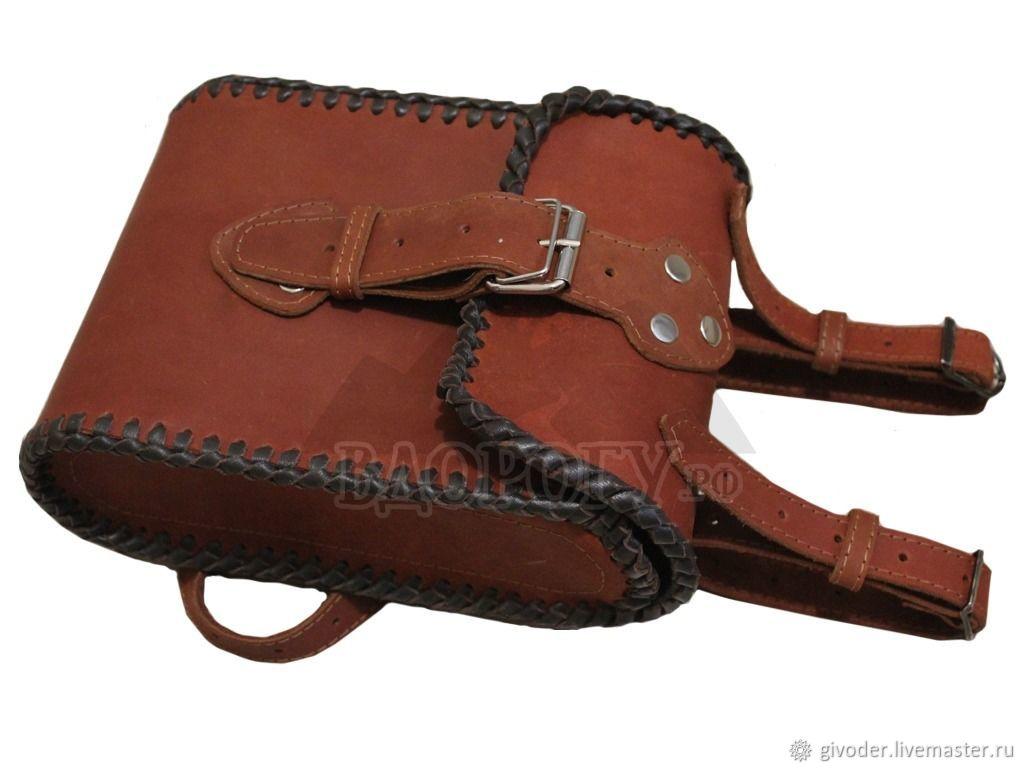 Сумка из кожи на бедро, на пояс, набедренная кожаная сумка, Поясная сумка, Ульяновск,  Фото №1