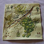 Салфетка для декупажа. Ветка винограда.