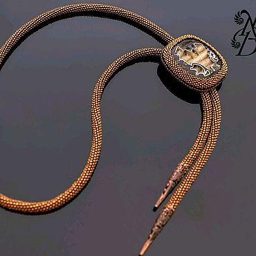 Accessories handmade. Livemaster - original item A Bolo tie with simbircite a Geode. Handmade.