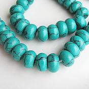 Материалы для творчества handmade. Livemaster - original item Beads, Turquoise (howlite under turquoise natural stone), green. Handmade.