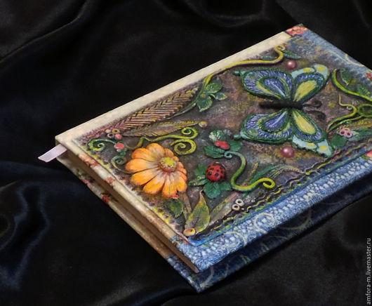 """Блокноты ручной работы. Ярмарка Мастеров - ручная работа. Купить Блокнот """"Бабочка"""". Handmade. Комбинированный, Блокнот для женщины"""