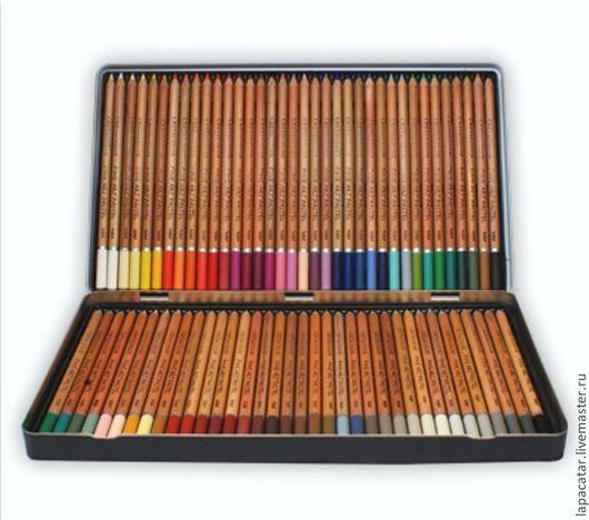 Другие виды рукоделия ручной работы. Ярмарка Мастеров - ручная работа. Купить Пастельные карандаши 72 цвета в метале. Creta Color. Handmade.