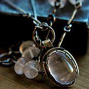 Украшения handmade. Livemaster - original item Necklace silver from natural stones. Handmade.