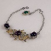 Украшения handmade. Livemaster - original item Silver bracelet with amethyst.. Handmade.