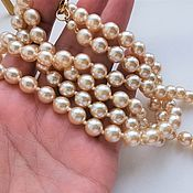 Винтаж handmade. Livemaster - original item Vintage necklaces: Pearl beads (glass). Handmade.