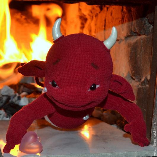 Человечки ручной работы. Ярмарка Мастеров - ручная работа. Купить демон. Handmade. Демон, дьявол, фактурная пряжа