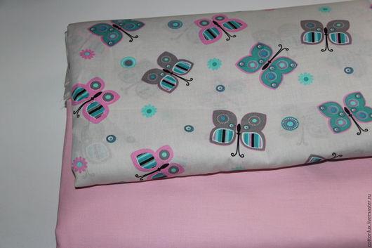 Шитье ручной работы. Ярмарка Мастеров - ручная работа. Купить Ткань хлопок 100% бабочки постель. Handmade. Хлопок