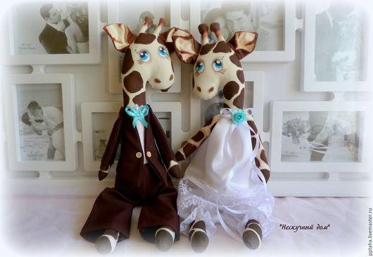 Подарки на свадьбу ручной работы. Ярмарка Мастеров - ручная работа. Купить Влюбленные жирафы. Handmade. Коричневый, жва жирафа, скидки