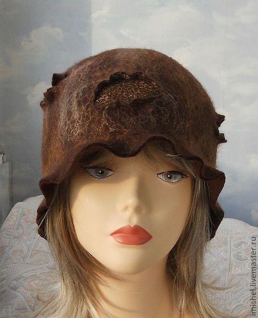 """Шляпы ручной работы. Ярмарка Мастеров - ручная работа. Купить шляпка """"Кора"""". Handmade. Коричневый, женские шляпы, стильная шляпка"""