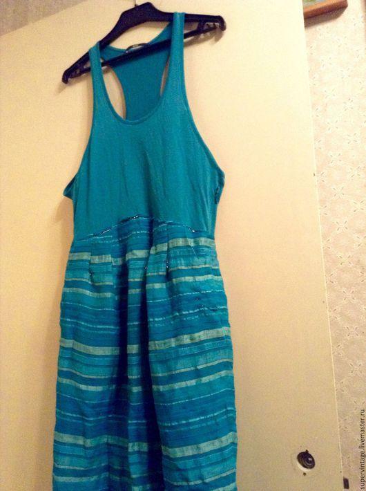 Одежда. Ярмарка Мастеров - ручная работа. Купить HUGO BOSS новое летнее платье-сарафан, оригинал. Handmade. Морская волна
